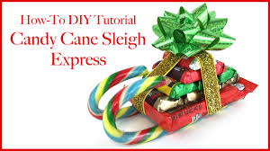 christmas candy cane sleigh express how to diy tutorial youtube