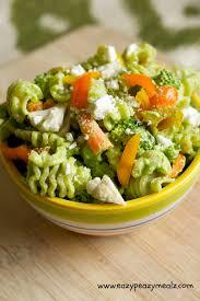 broccoli spinach pesto pasta salad eazy peazy mealz