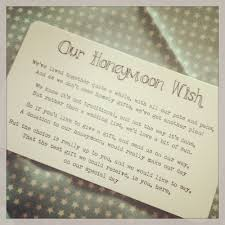 wedding honeymoon registry 10 best ideas for no gifts images on wedding gift poem