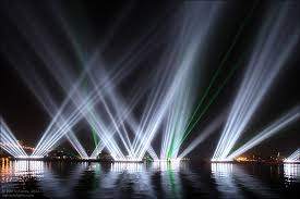 light show in honor of the apec summit in vladivostok russia