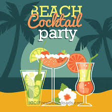 free vectors beach cocktail party vector illustration abstract