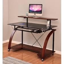 36 Inch Computer Desk Desk With Wheels U0026 Casters You U0027ll Love Wayfair