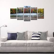 river home decor home decor art wall landscape river painting giclee print on