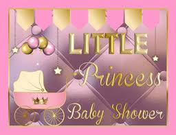 princess baby shower printable royal princess baby shower supplies pink gold