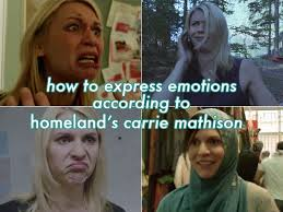 Claire Danes Meme - how to express emotions according to homeland s carrie mathison