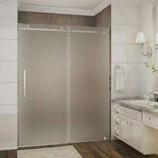 Glass Doors For Shower Frosted 3 8 Shower Doors Showers The Home Depot