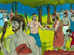 free bible images gideon takes on the midianites with just 300