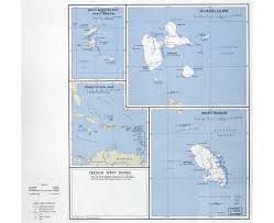 Map Of West Indies Maps Of Guadeloupe Detailed Map Of Guadeloupe In English