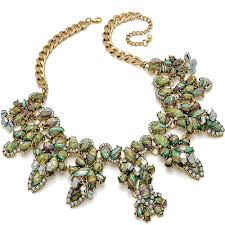 fashion jewelry statement necklace images New design antique gold plated costume fashion jewellery chunky jpg