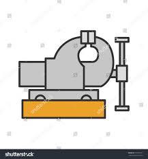 bench vice color icon leg vice stock vector 710785171 shutterstock
