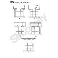 pattern for valances for 39 1 2