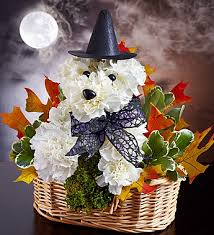 witchy pooch and pumpkin pup flower arrangements for dog lovers