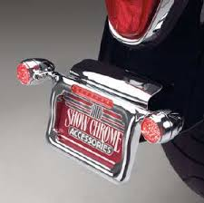 motorcycle license plate frame with led brake light chrome motorcycle license plate holder with led turn signals