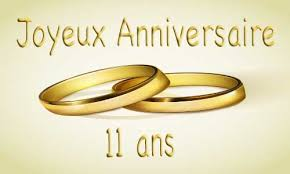 11 ans de mariage carte anniversaire mariage 11 ans bague or