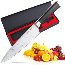 german steel kitchen knives augymer chef knife 8 inch professional german high carbon stainless
