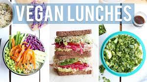 3 healthy vegan lunch ideas for work school