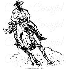 royalty free coloring sheet stock cowgirl designs
