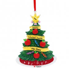 preschool tree keepsake ornament personalized