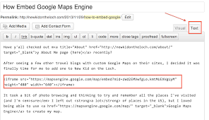 Google Maps Engine How To Embed Google Maps Engine New Kid On The Wok