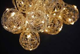 String Lights Balls by Wire Ball Battery Op Led String Lights 9ft 10ct