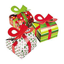 christmas boxes 3d christmas gift boxes with bow party favor goody