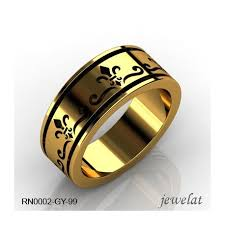 men s rings plain band ring for men 14k mens ring yellow gold ring