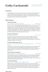 Science Resume Examples by Scientist Resume Samples Visualcv Resume Samples Database
