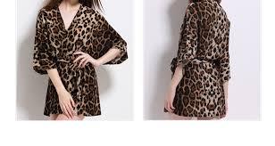robe de chambre leopard peignoir léopard ultra en coton pour femme lepeignoir fr