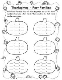 pumpkin math thanksgiving math fact family 2nd thanksgiving