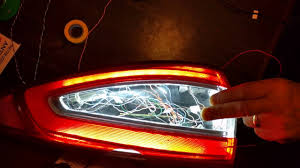 custom car tail lights ford fusion sequential custom tail light project youtube