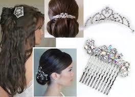 hair styles with rhinestones wedding hair combs wedding hairstyles with veil