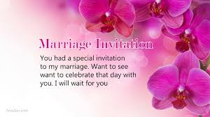 marriage invitation quotes marriage invitation wordings to invite friends