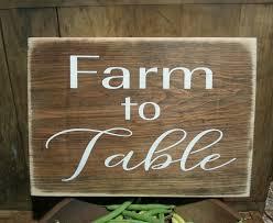 farmhouse kitchen decor farm to table wooden sign farmhouse