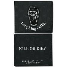 sword art online laughing coffin guild emblem bi fold anime wallet