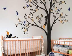 Tree Wall Decals Nursery by Full Corner Tree Squirrel Bird Flower Wall Decals Nursery Kids