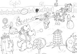 plants zombies printable coloring pages printable plants