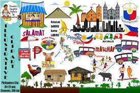 philippines jeepney vector philippines clip art illustrations creative market
