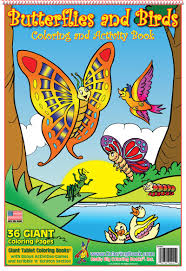 coloring books butterflies birds giant tablet