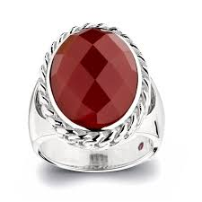 red silver rings images Elle sterling silver red agate ring jpg