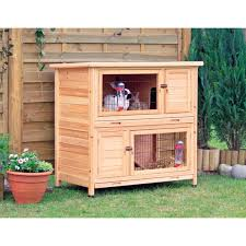 trixie 2 story rabbit hutch m free shipping today overstock