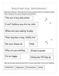 types of sentences and their punctuation by luxio teaching