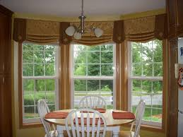 window treatments for bay windows in kitchen curtain ideas for