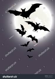 halloween background full moon bats stock vector 158694479