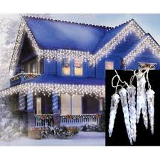led dripping icicle christmas lights set of 8 led polar white dripping icicle shape christmas lights