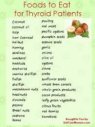 list of foods to eat for thyroid patients women u0027s health