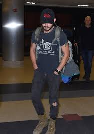 Ripped Knee Jeans Mens Shia Labeouf In Knee Ripped Jeans Denimology