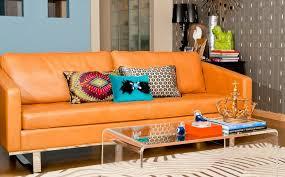 Orange Sofa Throw How To Decorate With Throw Pillows