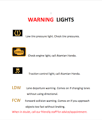 Honda Warning Lights Dashboard Symbols U0026 Warning Light Guide Atamian Honda