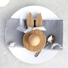 bunny egg cup wooden oak bunny ears egg cup by hop peck notonthehighstreet