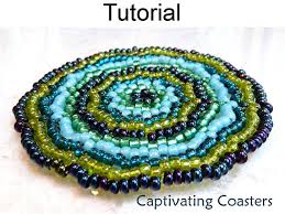 Beaded Home Decor Beading Patterns Beaded Coasters Seed Bead Coaster Home Decor